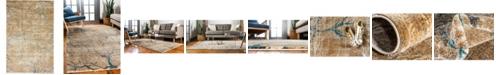 Bridgeport Home Aroa Aro1 Light Brown 4' x 6' Area Rug