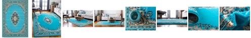 Bridgeport Home Birsu Bir1 Turquoise 7' x 10' Area Rug