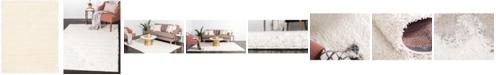 Bridgeport Home Exact Shag Exs1 Snow White 9' x 12' Area Rug