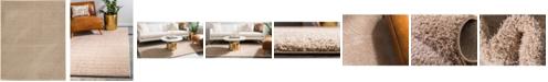 Bridgeport Home Salon Solid Shag Sss1 Taupe 8' x 10' Area Rug
