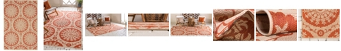Bridgeport Home Pashio Pas5 Terracotta 4' x 6' Area Rug