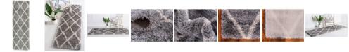 Bridgeport Home Latisse Shag Lts1 Gray 2' x 6' Runner Area Rug