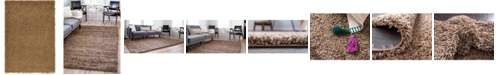 Bridgeport Home Exact Shag Exs1 Sandy Brown 4' x 6' Area Rug