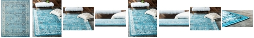 "Bridgeport Home Linport Lin1 Turquoise/Ivory 13' x 19' 8"" Area Rug"