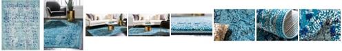 Bridgeport Home Sana San4 Light Blue 10' x 13' Area Rug