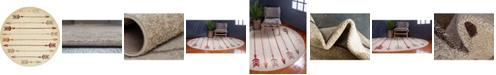 Bridgeport Home Jasia Jas09 Beige 8' x 8' Round Area Rug
