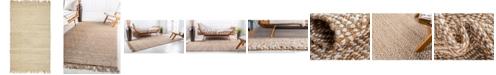 Bridgeport Home Braided Tones Brt3 Natural/White 5' x 8' Area Rug