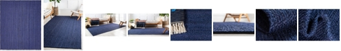 Bridgeport Home Braided Jute B Bjb5 Navy Blue 8' x 10' Area Rug