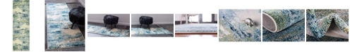 "Bridgeport Home Crisanta Crs7 Light Blue 2' 2"" x 6' 7"" Runner Area Rug"