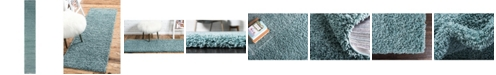 "Bridgeport Home Exact Shag Exs1 Light Slate Blue 2' 6"" x 16' 5"" Runner Area Rug"
