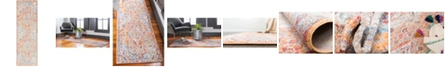 """Bridgeport Home Zilla Zil1 Orange 2' 7"""" x 8' 2"""" Runner Area Rug"""