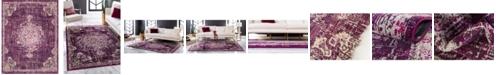 Bayshore Home Bridgeport Home Lorem Lor1 Purple 8' x 10' Area Rug