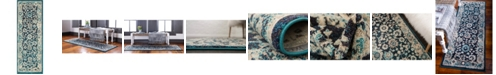 """Bridgeport Home Lorem Lor3 Navy Blue 2' 2"""" x 6' Runner Area Rug"""