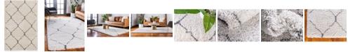 Bridgeport Home Fazil Shag Faz5 Ivory 4' x 6' Area Rug