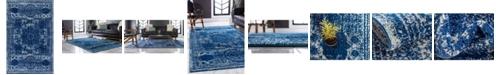 Bridgeport Home Mobley Mob2 Navy Blue 4' x 6' Area Rug
