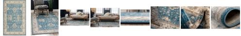 Bridgeport Home Bellmere Bel5 Light Blue 5' x 8' Area Rug
