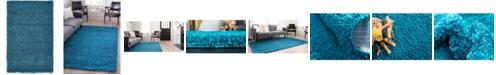 "Bridgeport Home Exact Shag Exs1 Turquoise 3' 3"" x 5' 3"" Area Rug"