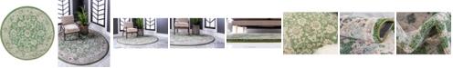 "Bridgeport Home Lorem Lor3 Green 3' 3"" x 3' 3"" Round Area Rug"