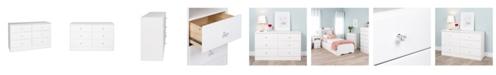 Prepac Astrid 6-Drawer Dresser with Acrylic Knobs