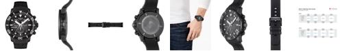 Tissot Men's Swiss Chronograph SeaStar Black Rubber Strap Diver Watch 45.5mm