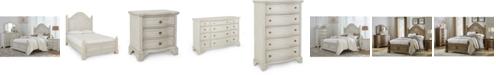 Furniture Trisha Yearwood Jasper County Dogwood Panel Bed Bedroom Collection