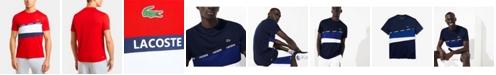 Lacoste Performance Colorblocked Crew Neck Tee Shirt