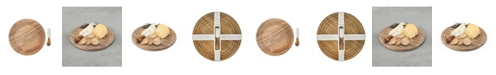 Twine Rounded Cheese Board Knife Set