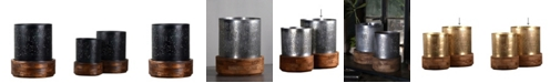 """Villa2 Jaali Hurricane 3"""" Dia Candle Holder Stand in Brushed Retro Rich Look"""