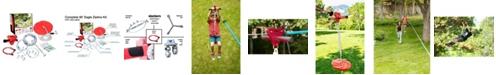 b4Adventure Slackers Zipline 90' Outdoor Play Adventure Zip Line System For Kids With Spring Brake Included