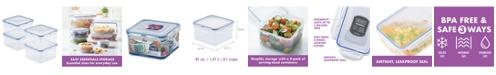 Lock n Lock Easy Essentials Square 41-Oz. Food Storage Container, Set of 4