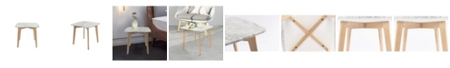 Cenports Gavia Square Marble Side Table