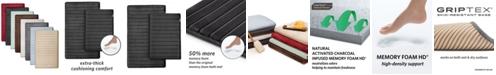Microdry Charcoal-Infused 2-Pc. Memory Foam Bath Mat Set