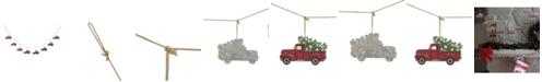 Glitzhome 6' L Metal Truck Garland