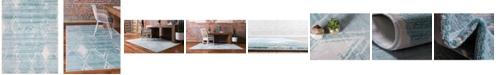 Jill Zarin Carnegie Hill Uptown Jzu006 Turquoise 8' x 10' Area Rug