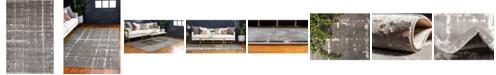 Jill Zarin Lexington Avenue Uptown Jzu003 Gray 4' x 6' Area Rug