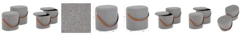 Lumisource Nesting Oval Storage Ottoman 2pc Set, Quick Ship