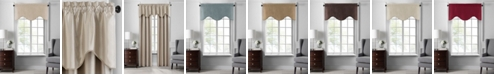 "Elrene Colette Faux Silk Scalloped Window Valance, 50""x21"""
