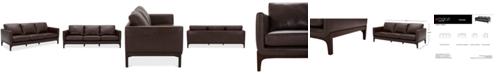 "Furniture Yazlan 89"" Leather Sofa"
