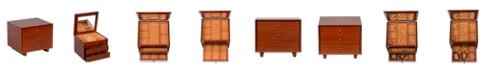Mele & Co Mele Co. Hayden Wooden Jewelry Box in Walnut Finish