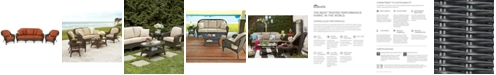 Furniture Monterey Outdoor Wicker 3-Pc. Seating Set with Sunbrella® Cushions  (1 Sofa & 2 Club Chairs)- with Custom Sunbrella®,  Created for Macy's