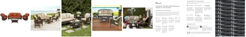 Furniture Monterey Outdoor Wicker 4-Pc. Seating Set (1 Sofa, 2 Swivel Chairs & 1 Coffee Table) with Custom Sunbrella®,  Created for Macy's
