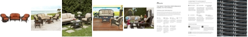Furniture Monterey Outdoor Wicker 3-Pc. Seating Set (1 Loveseat, 1 Swivel Chair, & 1 Club Chair) with Custom Sunbrella®,  Created for Macy's