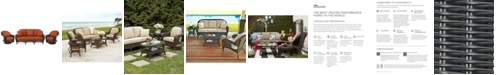 Furniture Monterey Outdoor Wicker 3-Pc. Seating Set (1 Sofa & 2 Swivel Chairs)- with Custom Sunbrella®, Created for Macy's