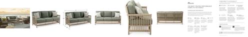 Furniture Lavena Outdoor Sofa with Sunbrella® Cushions, Created for Macy's