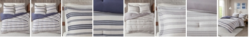 JLA Home Urban Habitat Cole King/California King Stripe Print Ultra Soft Cotton Blend Jersey Knit 3 Piece Comforter Set