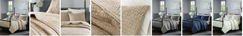 Madison Park Signature Serene King 3 Piece Cotton Quilt Coverlet Set