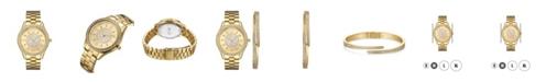 Jbw Women's Mondrian Diamond (1/6 ct.t.w.) 18k Gold Plated Stainless Steel Watch 37mm