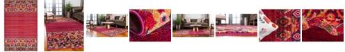 "Bridgeport Home Sana San3 Fuchsia 10' 6"" x 16' 5"" Area Rug"