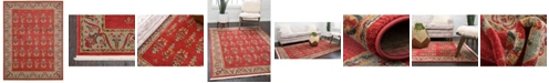 Bridgeport Home Ojas Oja1 Red 9' x 12' Area Rug