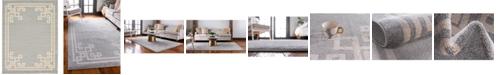 Bridgeport Home Anzu Anz3 Gray 9' x 12' Area Rug